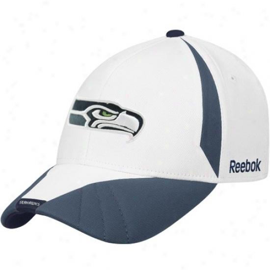 Seattle Sea Hawk Hat : Reebok Seattle Sea Hawk White-pacific Blue Cut & Sea Structured Adjustable Hat
