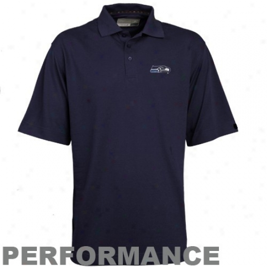 Seattle Sea Hawk Polo : Cutter & Buck Seattle Sea Hawk Navy Blue Drytec Championship Performance Polo