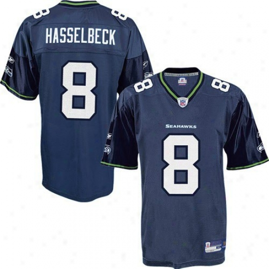 Seattle Sea Hawks Jersey : Reebok Nfl Equipment Seattle Sea Hawks #8 Matt Hasselbeck Pacific Blue Juvenility Replica Football Jersey