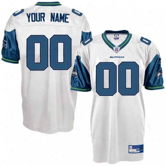 Seattle Sea Hawks Jerseys : Reebok Nfl Equipment Seattle Sea Hawks White Authentic Customized Jerseys