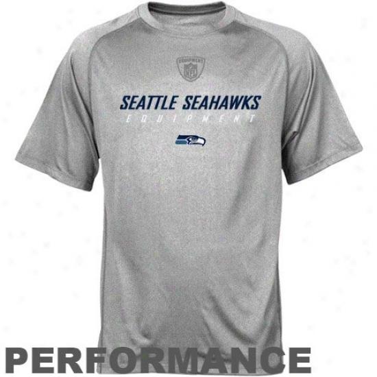 Seattle Sea Hawks Tshirts   Reebok Nfl Accoutrement Seattle Sea Hawks Ash  Equipspeed Performance Tshirts c9d93b88c
