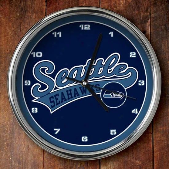 Seattl eSeahawks 12'' Chrome Clock