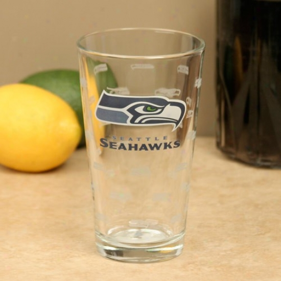 Seattle Seahawks 16oz. Satin Etch Pint Glass