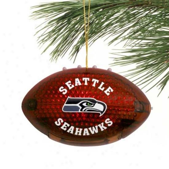 Seattle Seahawks 4'' Acrylic Light-up Football Ornament