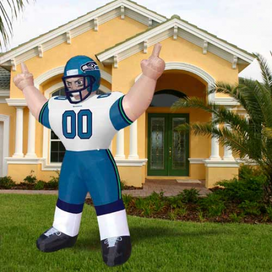 Seattle Seahawks 8' Inflatable Player Mascot