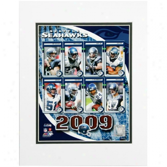 Seattle Seahawks 8'' X 10'' 2009 Team Composite Matted Photograph