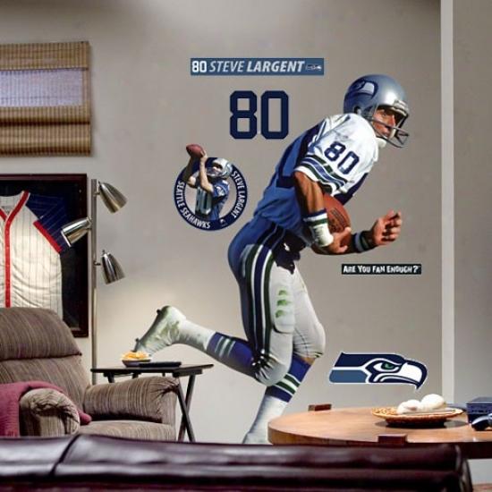 Seattle Seahawks #80 Steve Largent Player Fathead