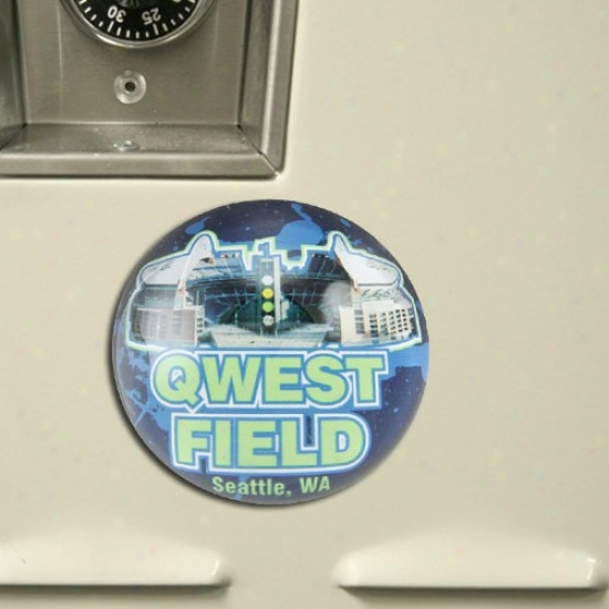 Seattle Seahawks Domed Crystal Stadium Magnet