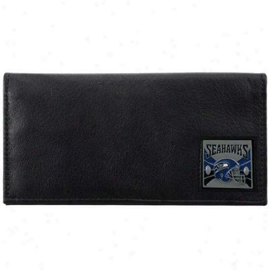 Seattle Seahawks Executie Black Leather Chckbook Cover