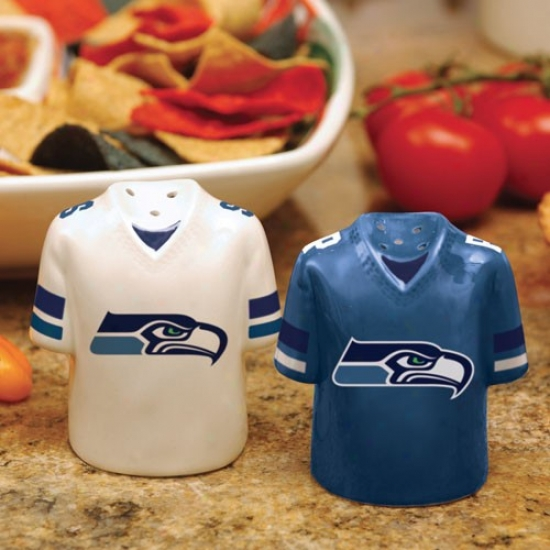 Seattle Seahawks Gameday Ceramic Salt & Pepper Shakers