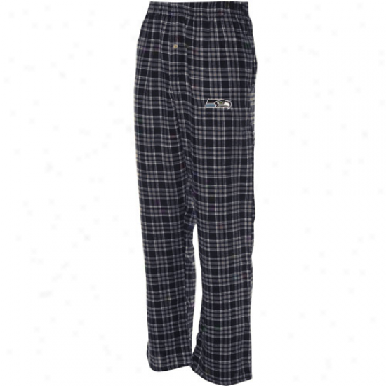 Seattle Seahawks Navy Azure Plaid Match-up Flannel Pants
