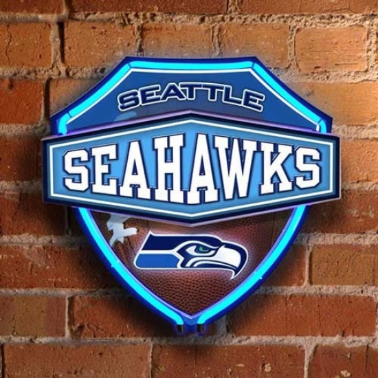 Seattle Seahawks Neon Shield Wall/window Lamp