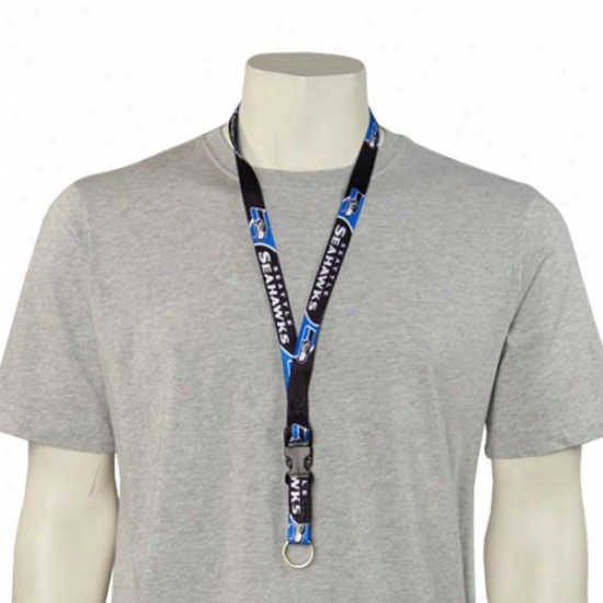 Seattle Seahawks Nfl Team Logo Lanyard