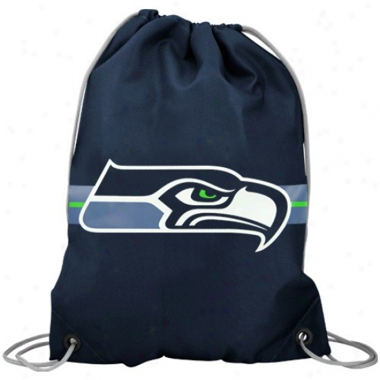 Seattle Seahawks Pacific Blue Team Logo Drawstring Backpack