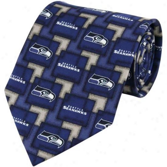 Seattle Seahawks Pat5ern 2 Silk Tie