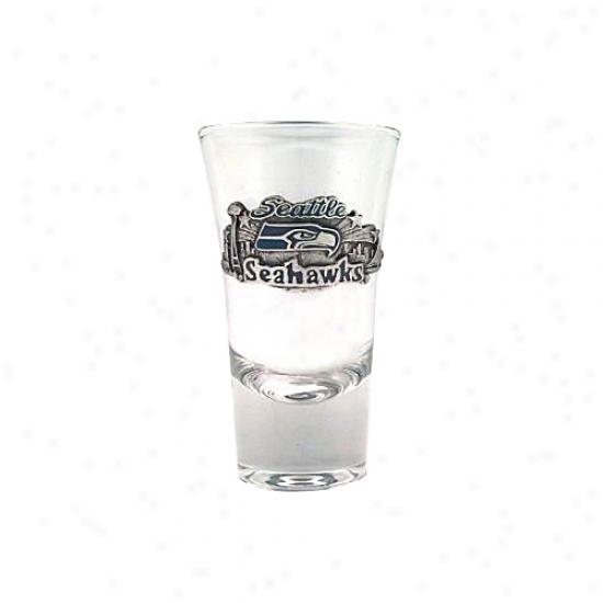 Seattle Seahawks Pewter Team Logo Flaerd Shooter Glass