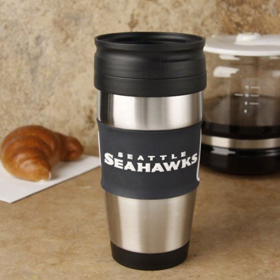 Seattle Seahawks Steel & Pvc Travel Tumbler