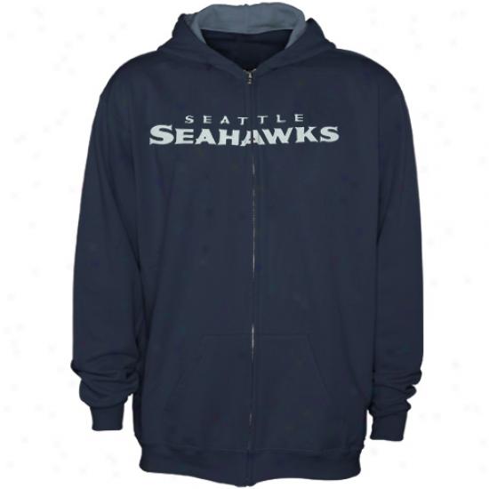 Seattle Seahawks Sweat Shirt : Reebok Seattle Seahawks Youth Ships Blue Sportsman Sweat Shirt