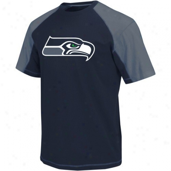 Seattle Seahawks T Shirt : Seattle Seahawks Navy Blue-pacific Biue Victory Gear Iii Premium T Shirt