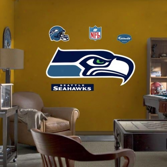 Seattle Seahawks Team Logo Fathead Wall Sticker