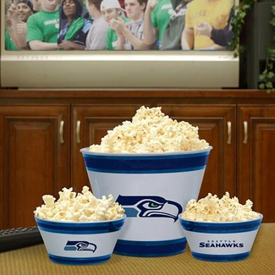 Seattle Seahawks Three-piece Melamine Serving Set