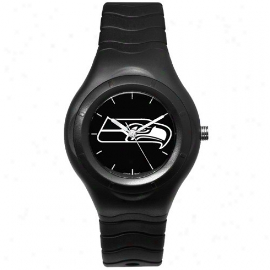 Seattle Seahawks Wrist Watch : Seattle Seahawks Black Shadow Team Logo Sport Wrist Watch