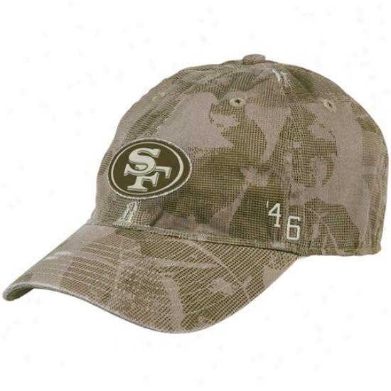 Sf 49er Hat : Reebok Sf 49er Camo Flex Fit Slouch Hat