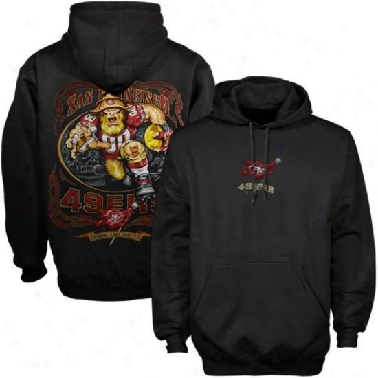 Sf 49er Sweatshirt : Sf 49er Black Running Back Sweatsiirt