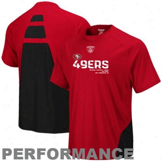 Sf 49ers Apparel: Reebok Sf 49ers Principal Clash Sideline Performance T-shirt
