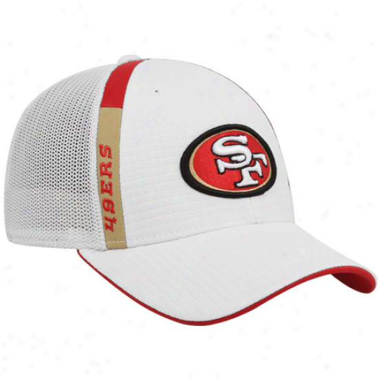 Sf 48ers Cap : Reebok Sf 49ers White Structured Mesh Flrx Cover