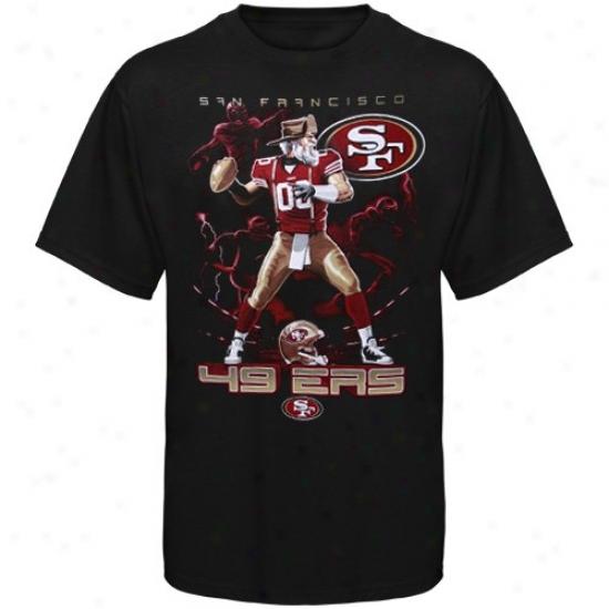 Sf 49ers Shirt : Sf 49ers Black The Quarterback Shirt