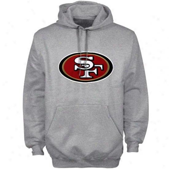 Sf 49ers Sweatshirt : Reebok Sf 49ers Ash Playbook Sweatshirt