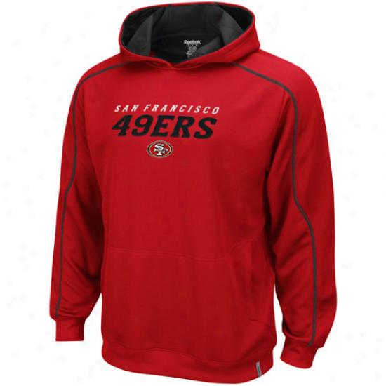 Sf 49ers Sweatshirt : Reebok Sf 49ers Burgandy Active Pullover Sweatshirt