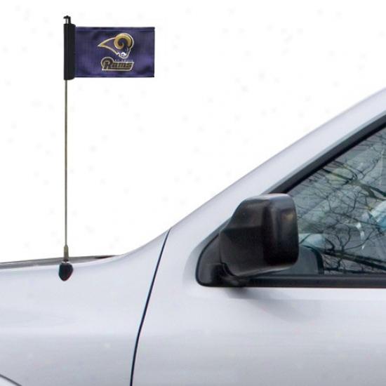 St. Louis Ram Banners : St. Louis Ram Naavy Blue Antenna Banners