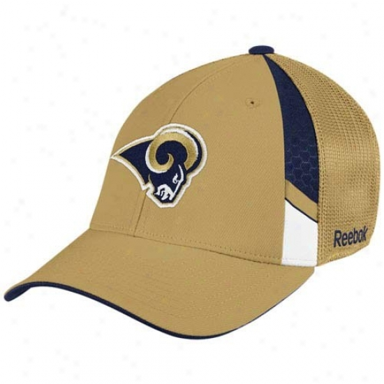 St. Louis Ram Hat : Reebok St. Louis Ram Gold  Draft Appointed time Flex Fit Cardinal's office