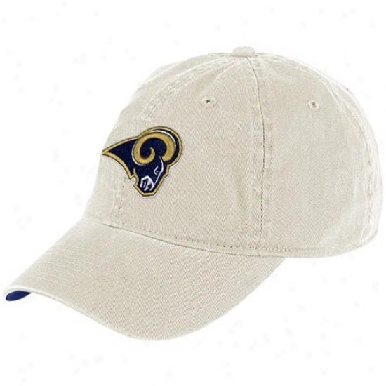 St Louis Ram Hat : Reebok St Louis Ram Khaki Basic Logo Slouch Hat