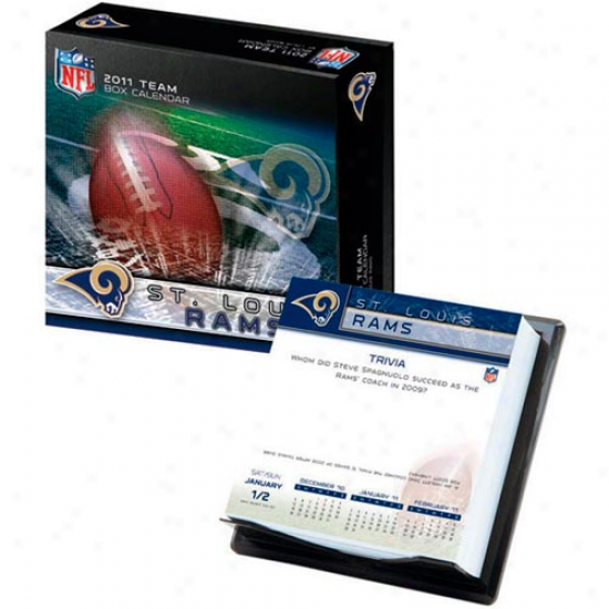 St. Louis Rams 2011 Boxed Team Calendar