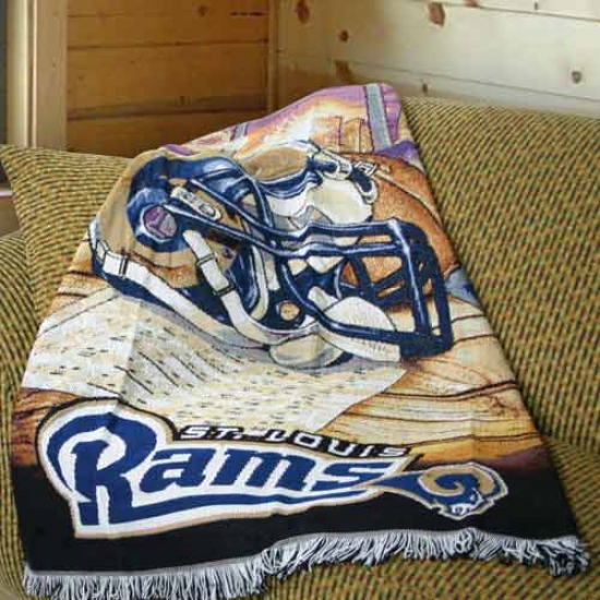 St. Louis Rams Acrylic Tapestry Throw Blanket