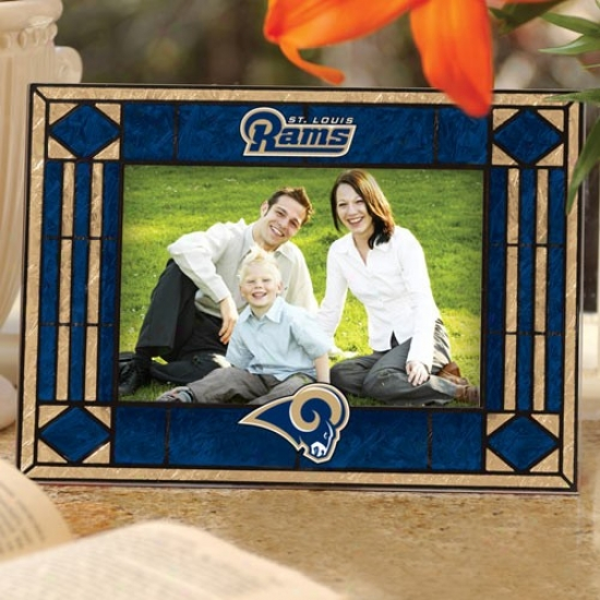 St. Louis Rams Art-glass Horizontal Picture Frame