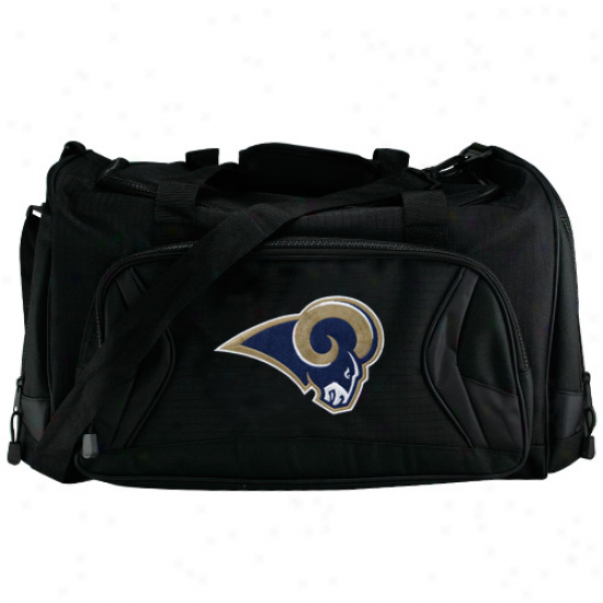 St. Louis Rams Black Fly-by Duffel Bag