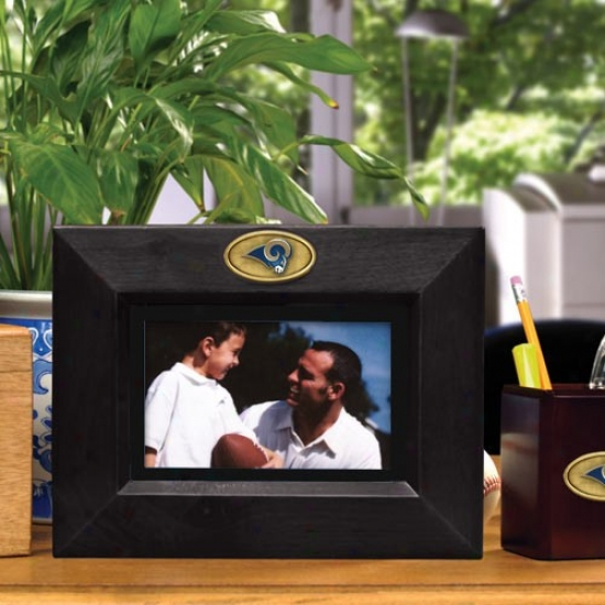 St. Louis Rams Black Wooden Landscape Picture Frame