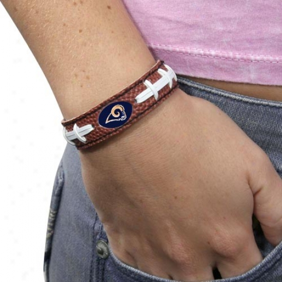 St. Louis Rms Brown Football Bracelet