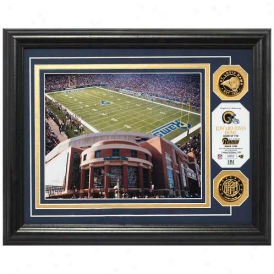 St. Louis Rams Edward Jones Dome 24kt Gold Photomint