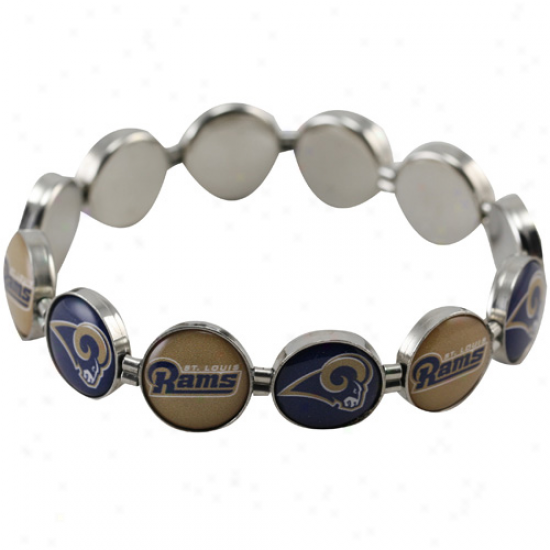 St. Louis Rams Enamel Charm Bdaded Bracelet