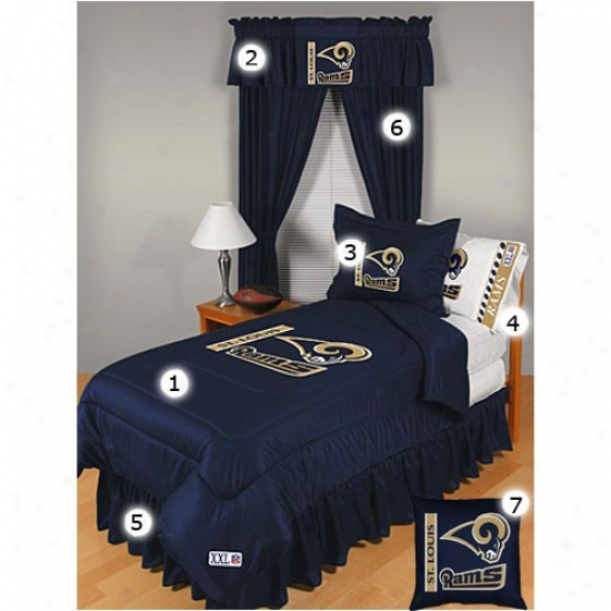 St. Louis Rams Full Size Locker Room Bedroom Set