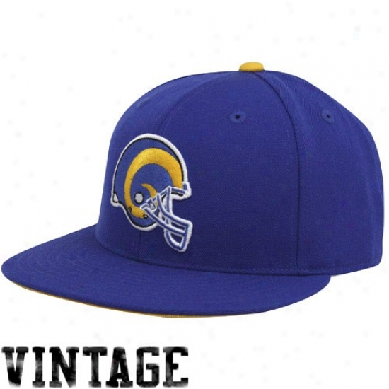 St Louis Rams Array: Mitchell & Ness St Louis Rams Royal Blue Throwback Fitted Hat