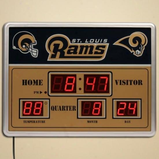 St. Louis Rams Led Scoreboard Clock