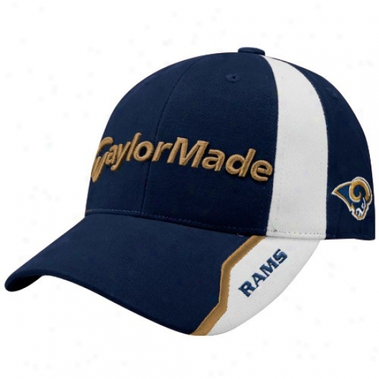 St. Louis Rams Commodities: Taylormade St. Louis Rams Navy Blue Nfl Golf Adjustable Hat