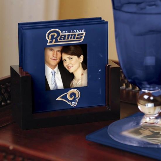 St. Louis Rams Navy Blue 4-pack Photo Coaster Set