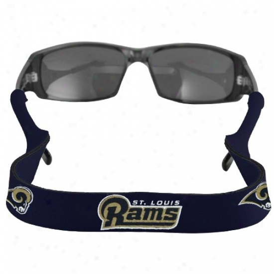 St. Louis Rams Navy Blue Neoprene Retainer Sunglasses Holder